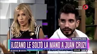 Vernica Lozano le solt la mano a Juan Cruz