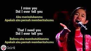 Goodbye - Claudia Emmanuela Santoso 🇮🇩🇮🇩 [The Voice of Germany Winner] (Lyrics video dan terjemahan)
