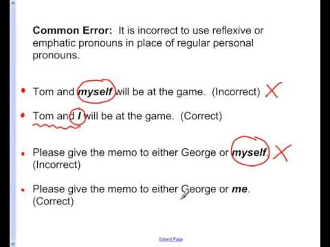 Perfect Reflexive And Emphatic Pronouns Video