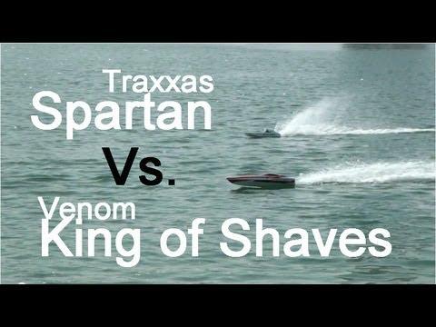 traxxas-spartan-vs.-king-of-shaves-venom---rc-boats-drag-race
