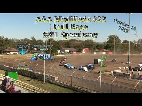 AAA Modifieds #22, Full Race, 81 Speedway, 10/19/19