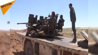 شاهد...التلال التي بدأ منها الجيش السوري تقدمة شرق حمص