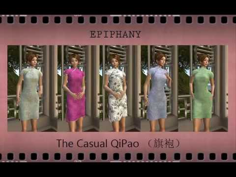 Qipao Chinese Dress Rigged 3D Model