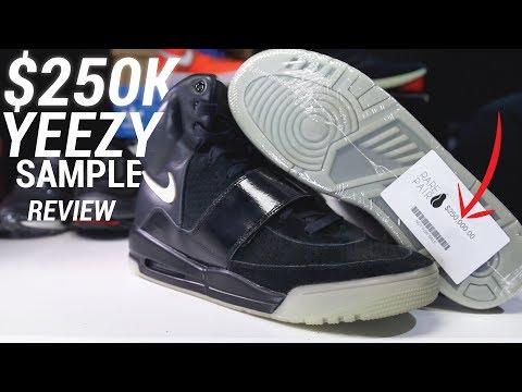 $250,000 NIKE AIR YEEZY SAMPLE REVIEW