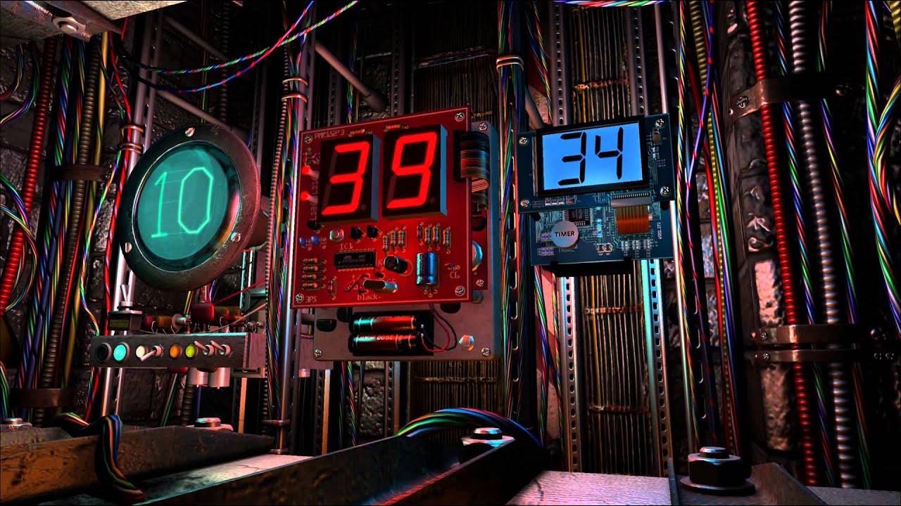 3d Digital Clock Wallpaper Digital Clock 3d Screensaver Youtube