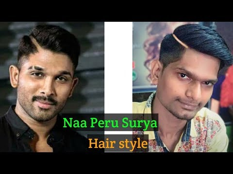 Naa peru surya Hairstyle - Naa illu India - Allu Arjun Hairstyle Haircut ..#86