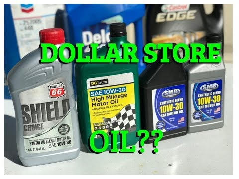 Dollar Store Oil?? Should you use it in your car
