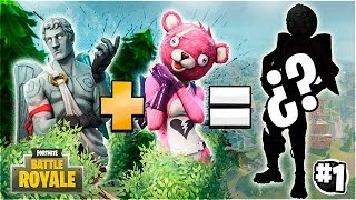 🔥FUSION OF FORTNITE SKINS #1🔥 CUPIDO + AMOROSO OSO! Creating FORTNITE!😱 SKINS [Flopper]