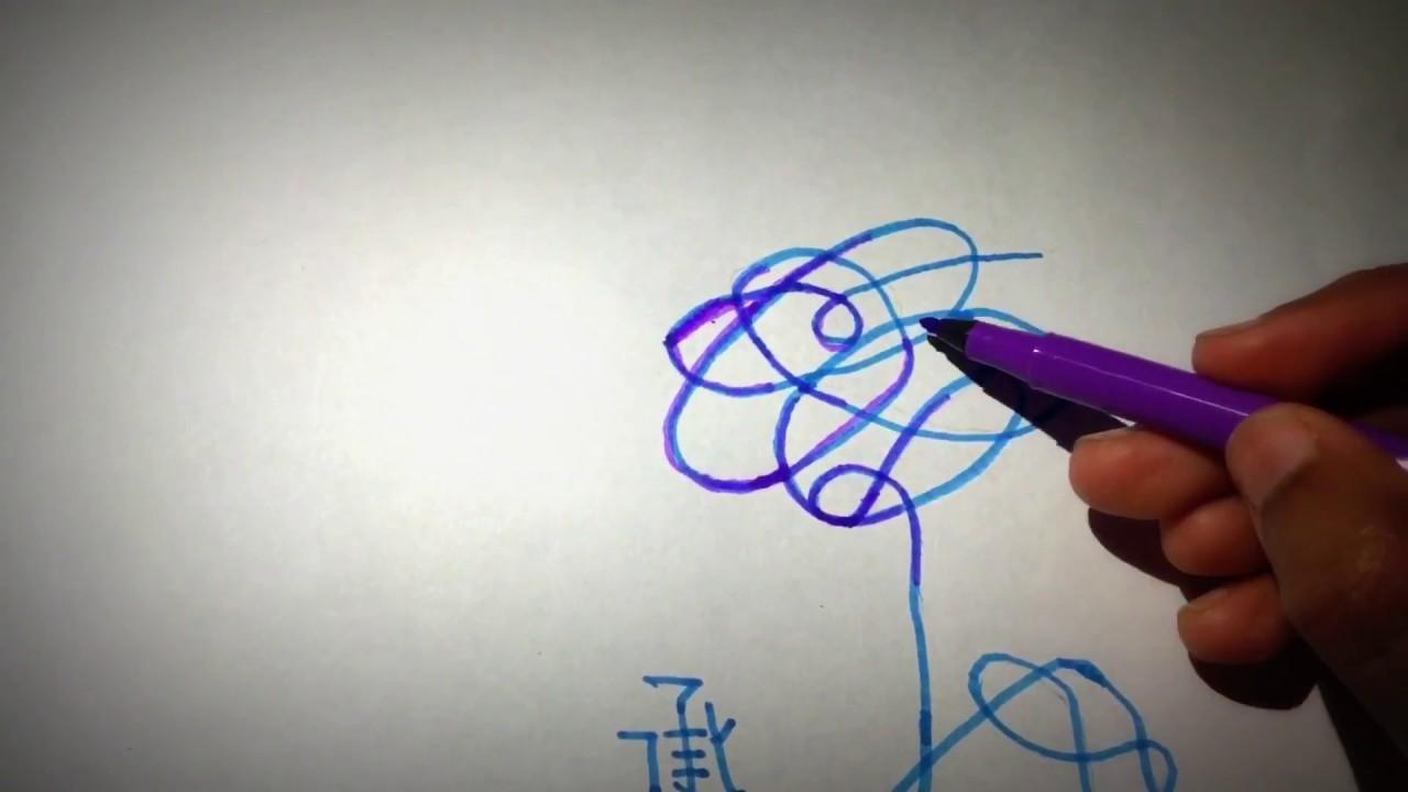 How To Draw Bts Love Yourself Album Logo Flower Bts Love
