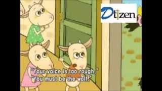 Волк и семеро козлят. Сказка на английском языке  с субтитрами