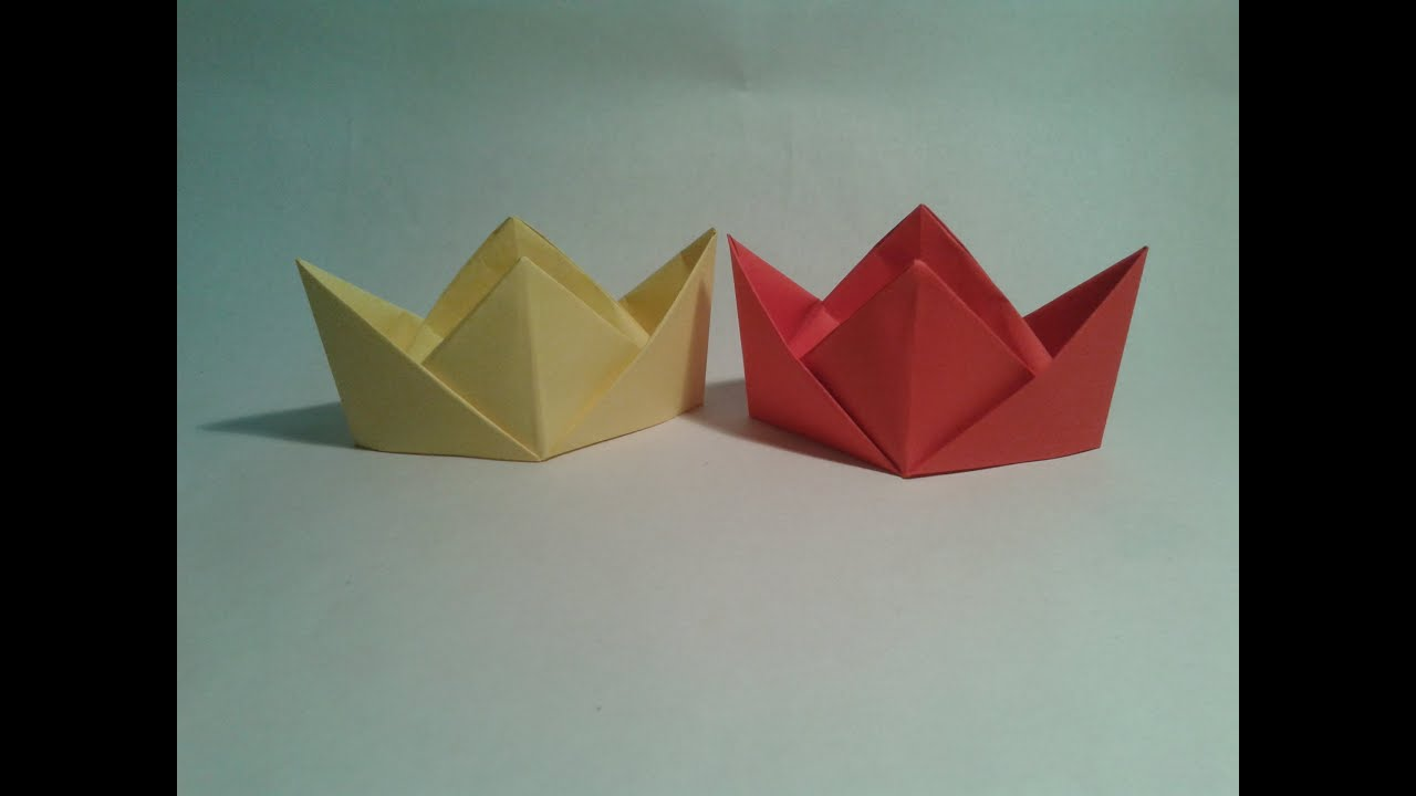 Origami - How to make an easy chinese hat - YouTube - photo#7