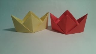 Origami - How to make an easy chinese hat