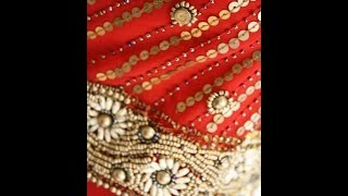 Red and muted gold anarkali http://shamadesigns.wix.com/shamaboutique Thumbnail