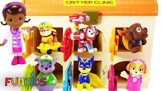 "Paw Patrol in Animal Hospital ""Critter Clinic"" with Doc McStuiffins"