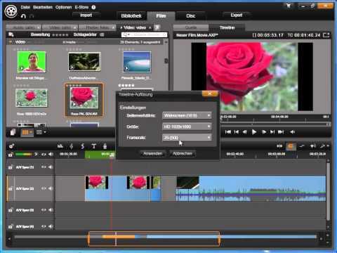 Timeline Einstellungen 2 in Avid studio und Pinnacle Studio