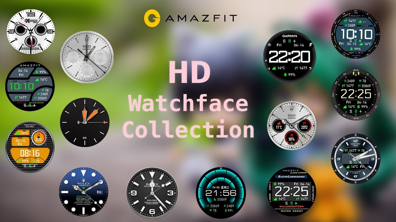 Amazfit - Top 15 HD watch faces for amazfit pace smartwatch | High  Definition watch faces for amazft