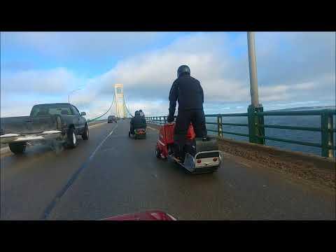 video for the Mackinac Bridge crossing Dec 16 2017