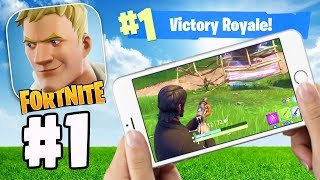 WORLD RECORD FIRST SOLO vs SQUAD VICTORY ROYALE!? | Fortnite App IOS/Android Gameplay Part 1