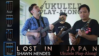 """""""Lost In Japan"""" (Shawn Mendes) Ukulele Play-Along! Video"""