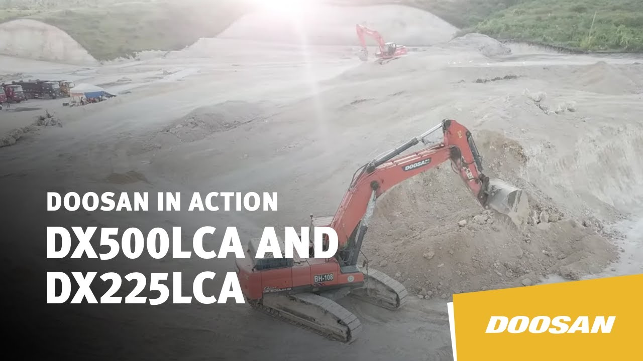 Doosan DX500LCA and DX225LCA in Action
