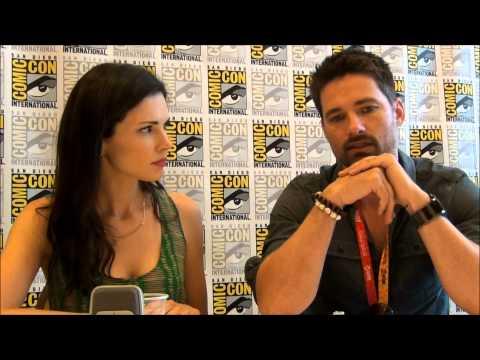 Syfy's Alphas Warren Christie & Laura Mennell at San Diego Comic Con 2012