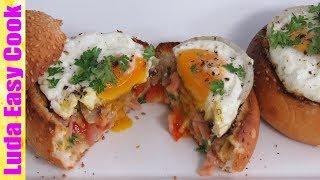 ЗАВТРАК ЗА 10 МИНУТ ЯЙЦО В БУЛОЧКЕ С ВЕТЧИНОЙ И СЫРОМ | 10 MIN BREAKFAST IDEAS Eggs in Bread Bowls