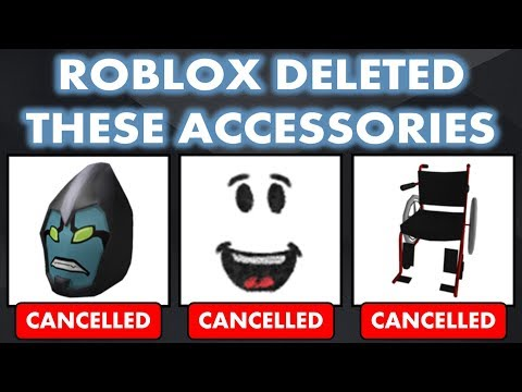 Roblox Cancelled Deleted These Hats Gear Faces Youtube