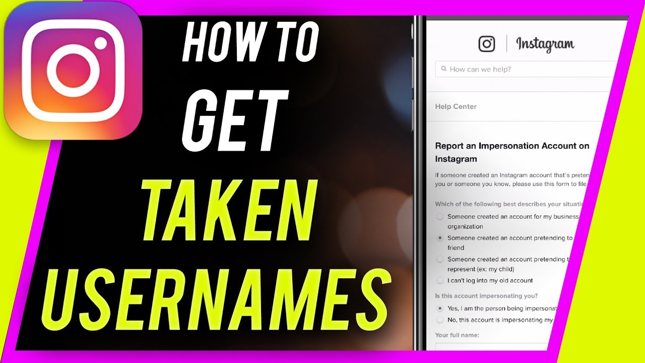How To Get A Taken Instagram Username