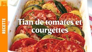 Tian de tomates et courgettes aux aromates