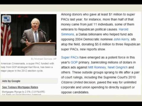 Super PACs and the effect of Citizens United