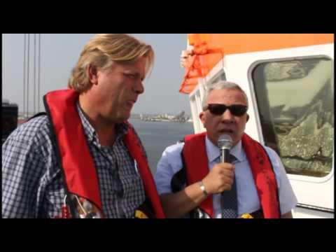 كلمة رئيس هيئة الميناء على متن الكراكة الهولندية العملاقة VOLVOX ASIA