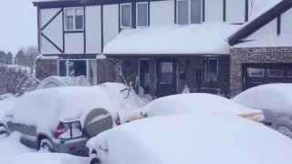 Record All-time Bismarck, ND, USA Snow Event.  April, 2013