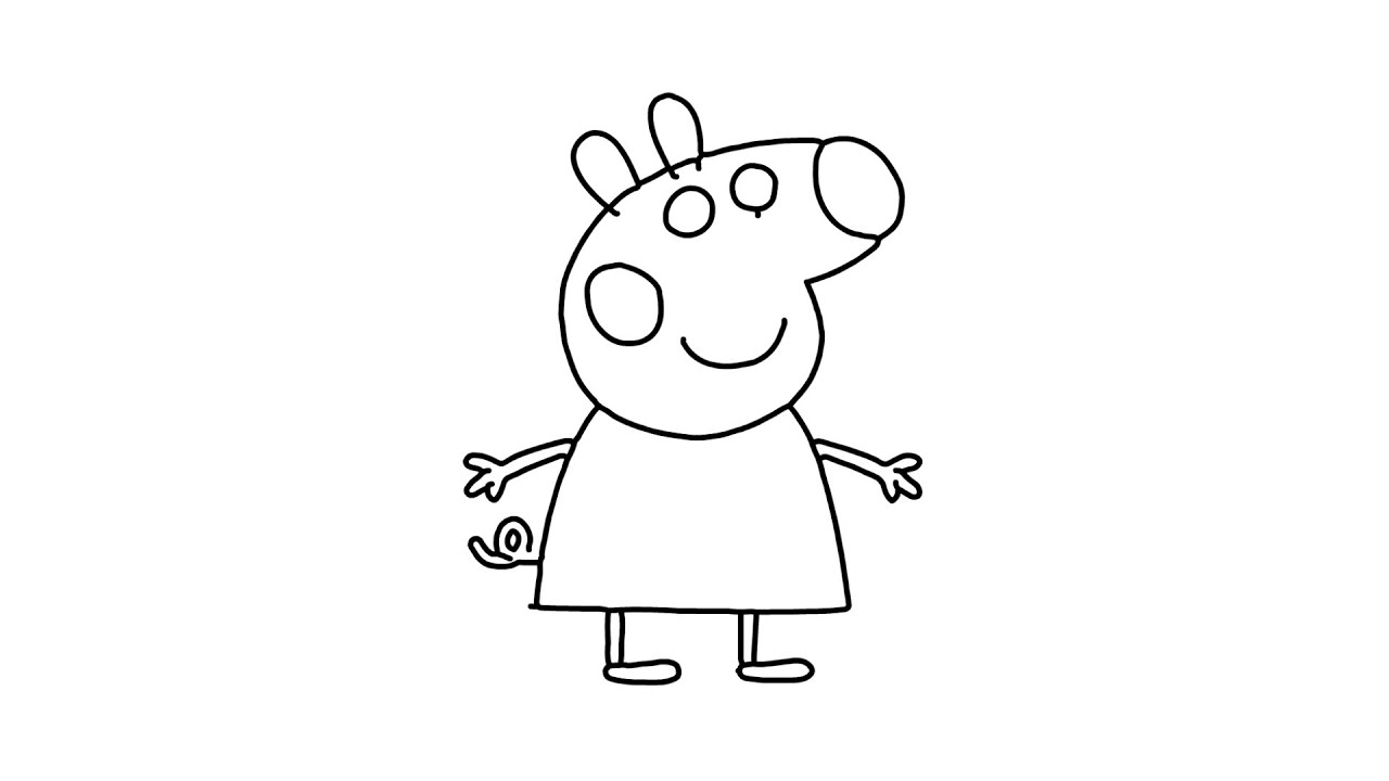 картинка карандашом свинки пеппы покраснение рук