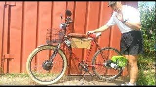 Збірка мотовелосипеда з двигуном мотокоси, повна інструкція