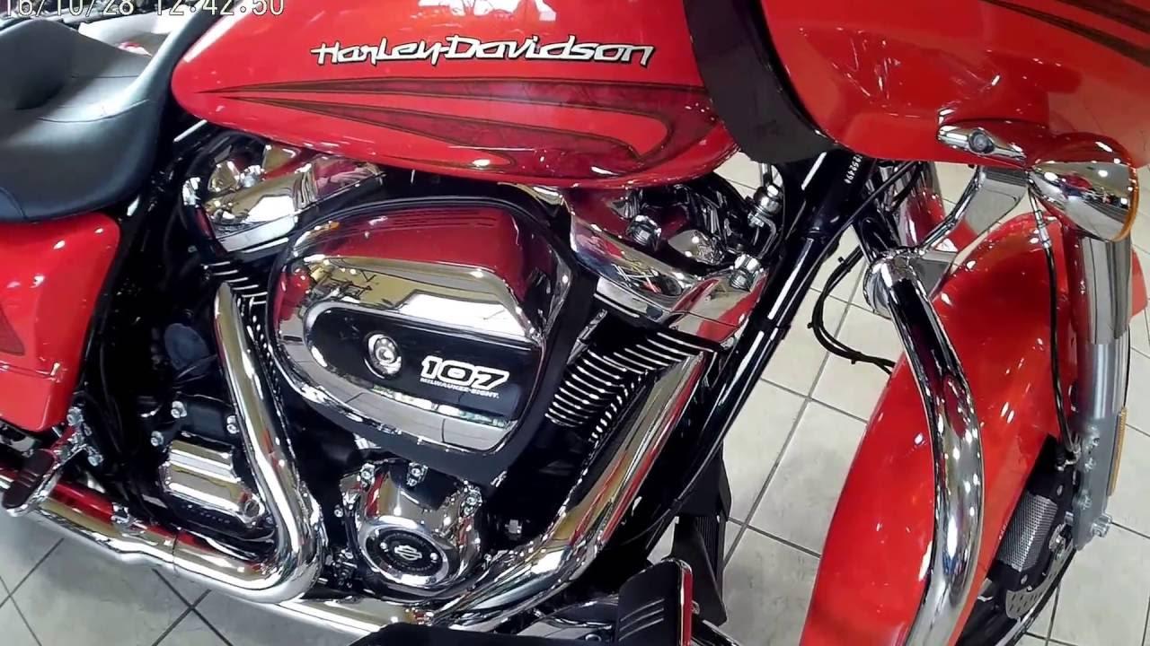2017 hd road glide orange youtube for Orange city motors inc
