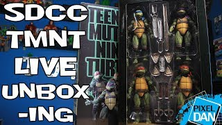 NECA Toys TMNT Movie Figures Box Set SDCC 2018 Exclusive - LIVE UNBOXING!!