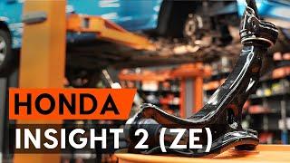 Como substituir a braço de suspensão dianteira no HONDA INSIGHT 2 (ZE) [TUTORIAL AUTODOC]