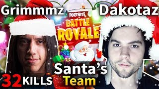SANTA'S TEAM Dakotaz & Grimmmz Duo Game #63 (Fortnite Battle Royale)