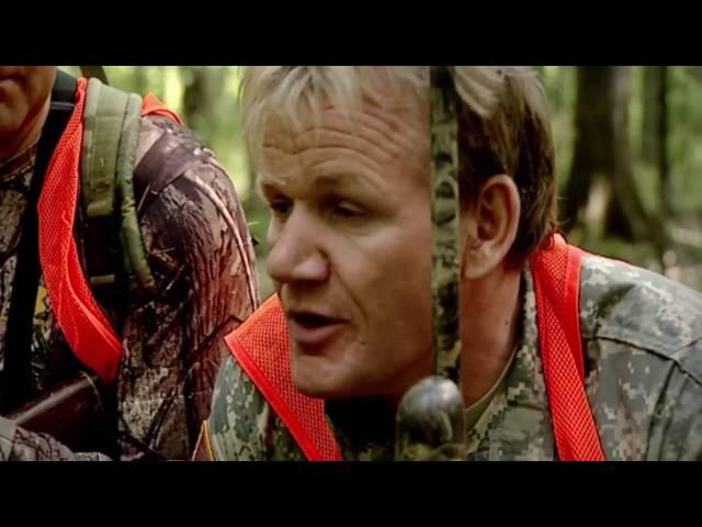 (中文字幕)地獄廚房 Gordon Ramsay親自抓野豬 當場屠宰食用