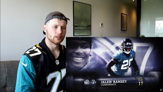 Rugby Player Reacts to JALEN RAMSEY (CB, Jaguars) #27 The NFL's Top 100 Players of 2019!