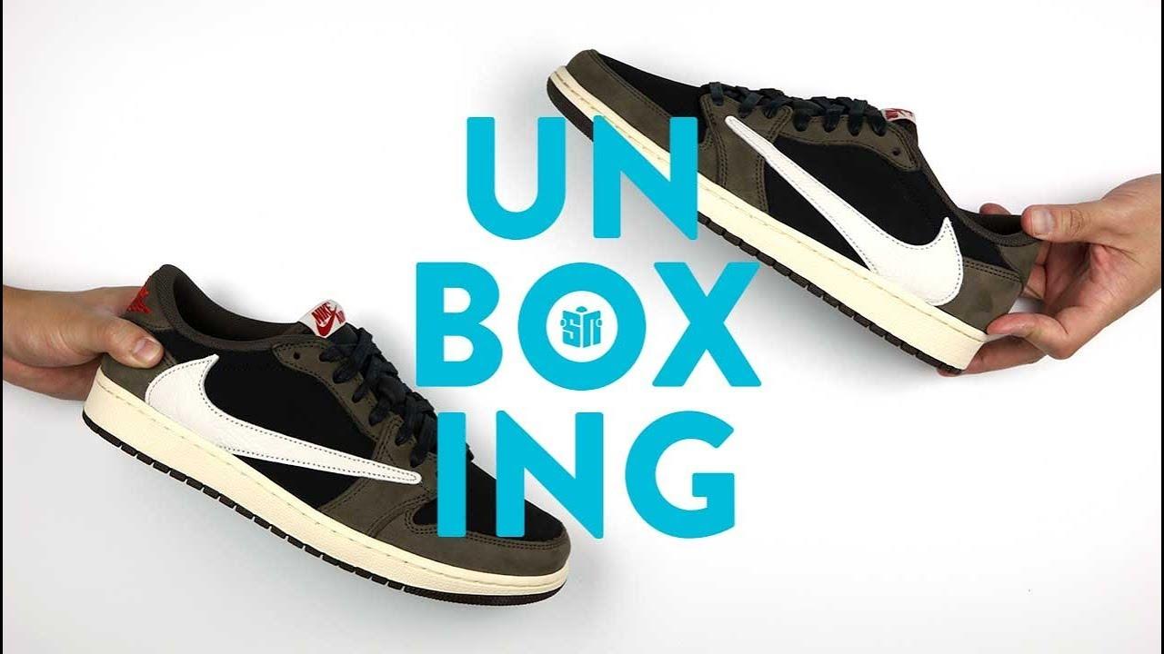 Travis Scott Jordan 1 Low Unboxing Youtube