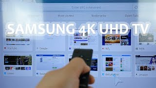 4K ULTRA HD - Samsung MU6300 Part 2 - W. One Remote, Smart TV Apps