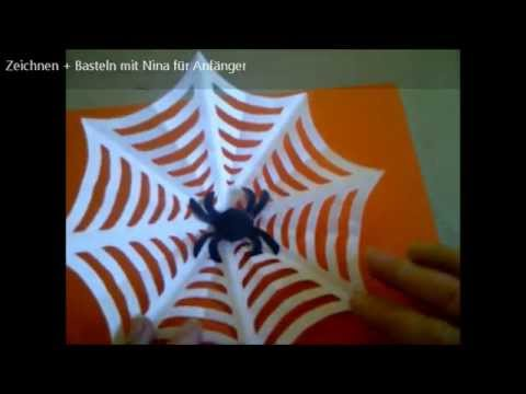 bastelideen halloween spinne aus papier basteln tinker for halloween spider made of paper. Black Bedroom Furniture Sets. Home Design Ideas