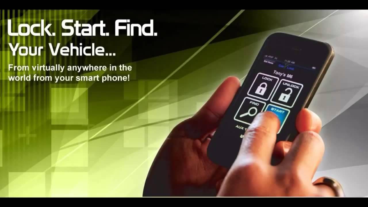 Remote car starter using carlink video muntz av