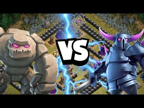 GOLEM vs PEKKA! Sorbettürme! ⭐ Clash of Clans  ⭐CoC