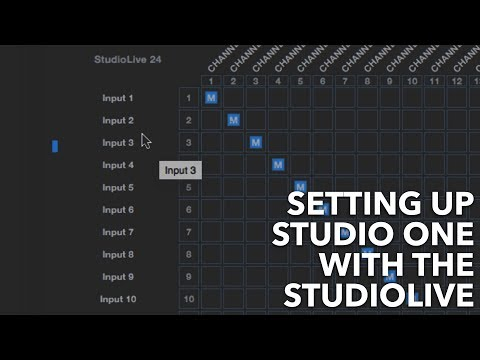 How To Set Up Studio One To Work With The StudioLive | Presonus StudioLive 24 Series III