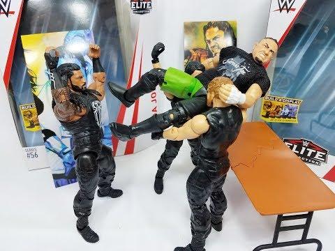 WWE ELITE 56 ROMAN REIGNS & SAMOA JOE FIGURE REVIEW