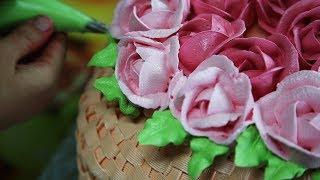 видеоурок: торт корзина с цветами
