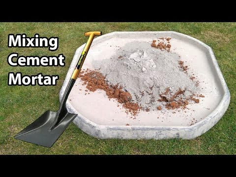 How to Mix Sand and Cement Mortar By Hand Like a Pro
