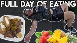 Full Day Of Eating | Training for the Murph Workout (20lbs Weighted Vest)